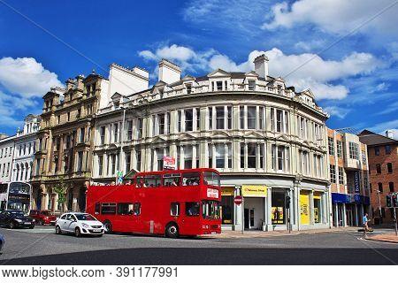Belfast, Northern Ireland, Uk - 03 Aug 2013: The Double Decker Bus, Belfast, Northern Ireland, Uk