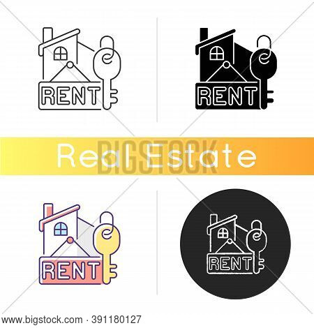 Rental Icon. Residential House For Rent. Credit For Home. Invest In Apartment. Sell Real Estate. Rea