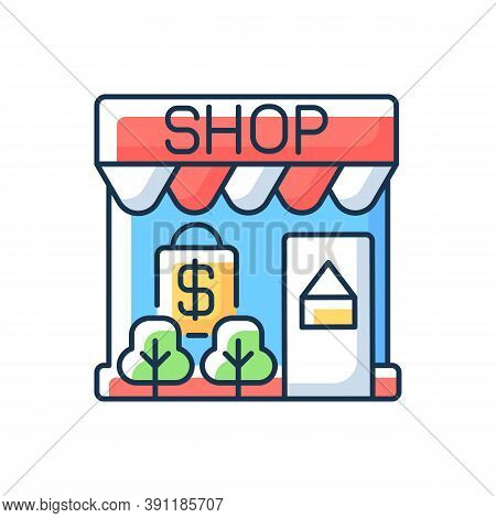 Retail Rgb Color Icon. Shop. Small Business. Wholesaling. Marketing Strategy. Selling Goods And Serv