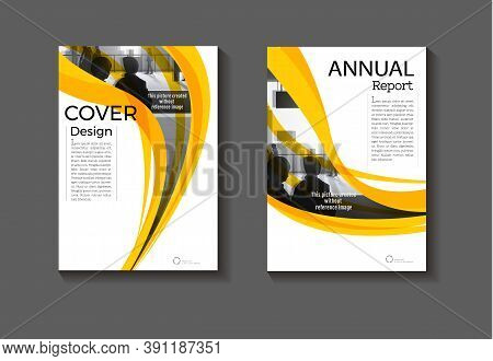 Yellow Template Abstract Background Modern Cover Design Modern Book Cover Brochure Cover ,annual Rep
