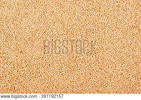 Amaranth Seeds Background. Organic Dry Raw Amaranth Beans. Close-up.