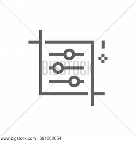 Adjustment Icon. Outline Illustration Of Adjustment Vector Icon For Web. Web Symbol For Websites And