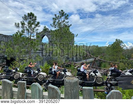 Orlando,fl/usa-10/22/20:  The Exciting Hagrid\'s Magical Creatures Roller Coaster Ride At Universal
