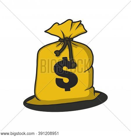 Bag Of Money. Money Bag Vector Illustration. Bag Icon. Money Bag Sign For Icon Or Logo. Money Bag Wi