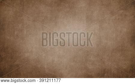 Vintage Sepia Cement Concrete Textured Background, Soft Natural Wall Backdrop For Aesthetic Creative