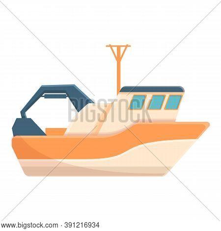 High Speed Fishing Boat Icon. Cartoon Of High Speed Fishing Boat Vector Icon For Web Design Isolated