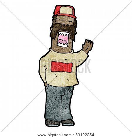 arrogant mustache man cartoon