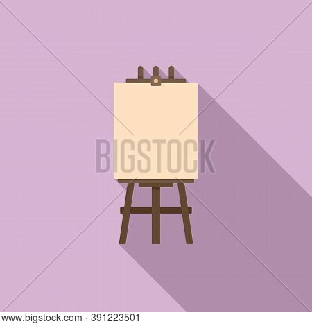 Easel Poster Icon. Flat Illustration Of Easel Poster Vector Icon For Web Design