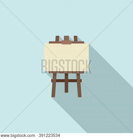 Artist Easel Icon. Flat Illustration Of Artist Easel Vector Icon For Web Design