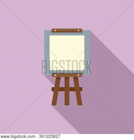 Equipment Easel Icon. Flat Illustration Of Equipment Easel Vector Icon For Web Design