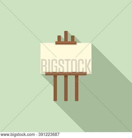 Exhibition Easel Icon. Flat Illustration Of Exhibition Easel Vector Icon For Web Design