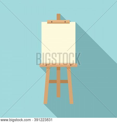 Board Easel Icon. Flat Illustration Of Board Easel Vector Icon For Web Design