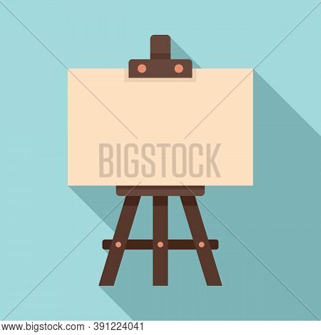 Education Easel Icon. Flat Illustration Of Education Easel Vector Icon For Web Design