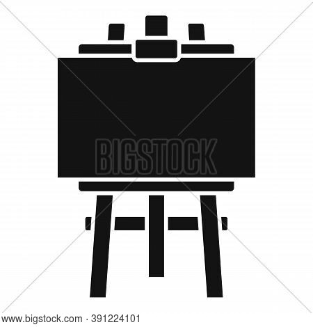 Artist Easel Icon. Simple Illustration Of Artist Easel Vector Icon For Web Design Isolated On White