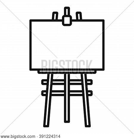 Frame Easel Icon. Outline Frame Easel Vector Icon For Web Design Isolated On White Background