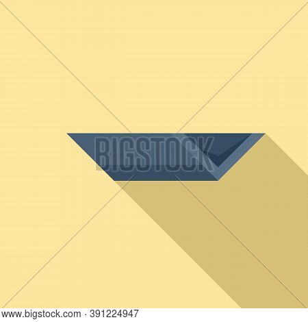 Rooftop Gutter Icon. Flat Illustration Of Rooftop Gutter Vector Icon For Web Design