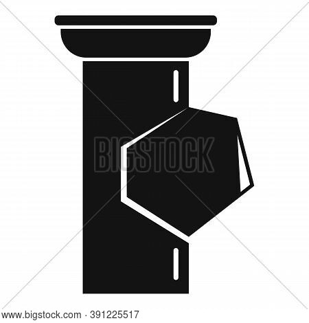 Trough Gutter Icon. Simple Illustration Of Trough Gutter Vector Icon For Web Design Isolated On Whit