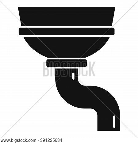 Rooftop Gutter Icon. Simple Illustration Of Rooftop Gutter Vector Icon For Web Design Isolated On Wh