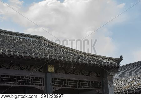 Eaves And Woodcarving Decorations Of Traditional Residential Buildings In Northern China