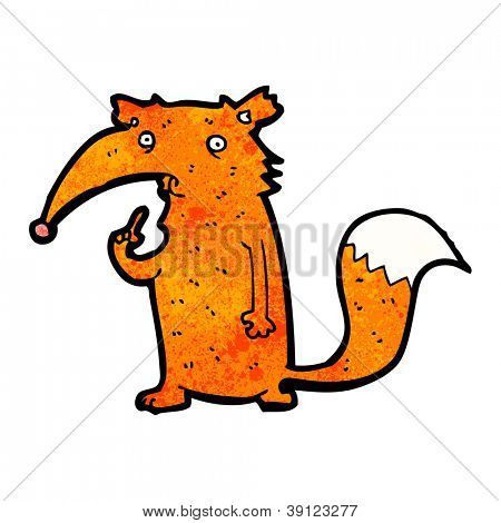 cartoon unsure fox
