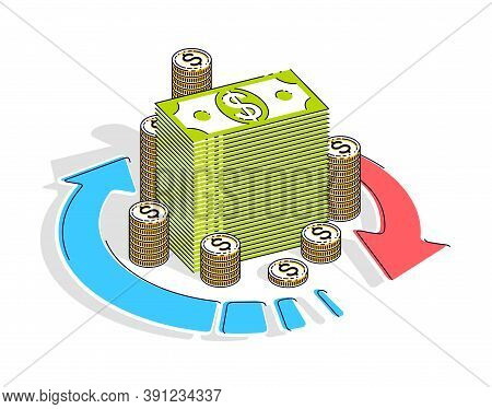 Money Circulation, Return On Investment, Currency Exchange, Cash Back, Money Refund, Concepts Can Be