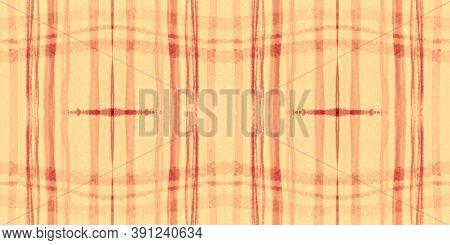Autumn Tartan Pattern. Watercolour Plaid Material. Wool Squares For Shirt Print. Seamless Summer Tar