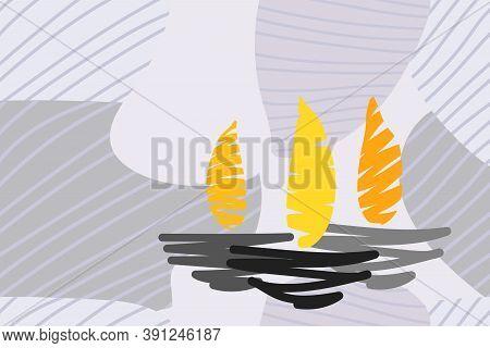 Elegant  Artistic Ethnic Simple Card For Diwali Festival Vector Illustration Also Useful For Header,