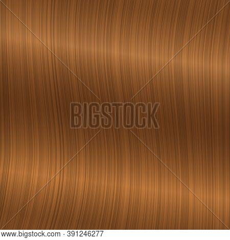 Blond Straight Hair Texture. Wavy Glossy Blonde Hair. Vector Realistic 3d Illustration. Design Eleme