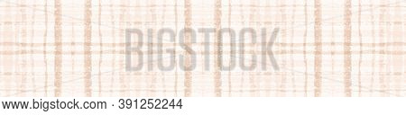 Beige Pastel Check. Seamless Picnic Fabric. Celtic Kilt. Modern Textured Blanket. Geometric Pastel C