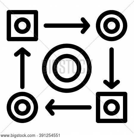 Adaptation Change Icon. Outline Adaptation Change Vector Icon For Web Design Isolated On White Backg