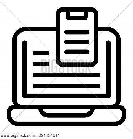 Adaptation Laptop Smartphone Icon. Outline Adaptation Laptop Smartphone Vector Icon For Web Design I