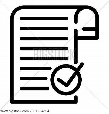 Document Request Icon. Outline Document Request Vector Icon For Web Design Isolated On White Backgro