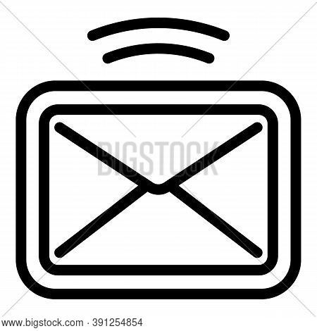 Notification Mail Request Icon. Outline Notification Mail Request Vector Icon For Web Design Isolate