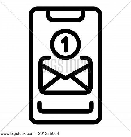 New Mail Inbox Icon. Outline New Mail Inbox Vector Icon For Web Design Isolated On White Background