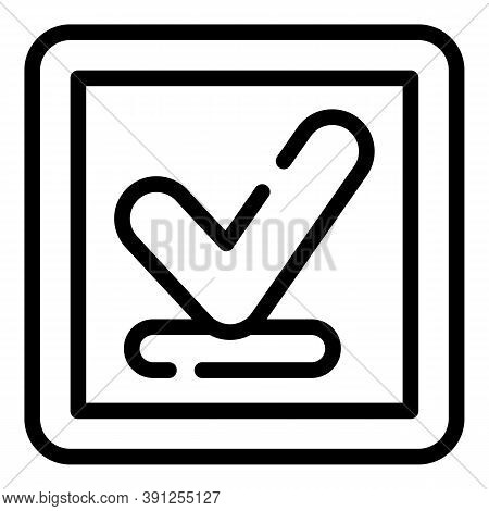 Approved Request Icon. Outline Approved Request Vector Icon For Web Design Isolated On White Backgro