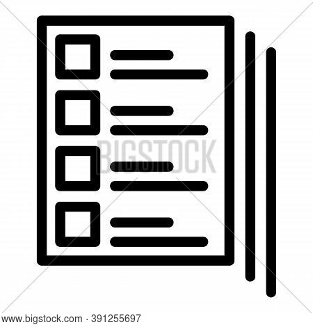 Final Exam Icon. Outline Final Exam Vector Icon For Web Design Isolated On White Background