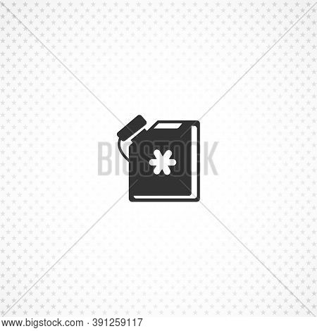 Antifreeze Jerrycan Isolated Solid Vector Icon On White Background