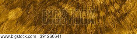 Tie Dye Design. Premium Craft Spiral Effect. Watercolour Poster. Bohemian Surface. Yellow Tie Dye Sw