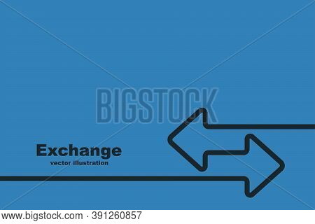 Exchange Landing Page. Abstract Financial Background For Web Pages. Banner Template For Money Transa