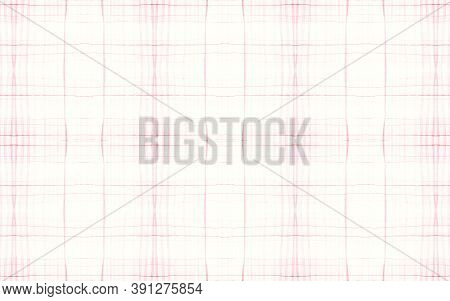 Pink Pajama Pattern. Woven Seamless Picnic Flannel. Watercolor Squares For Twill Design. White Girl