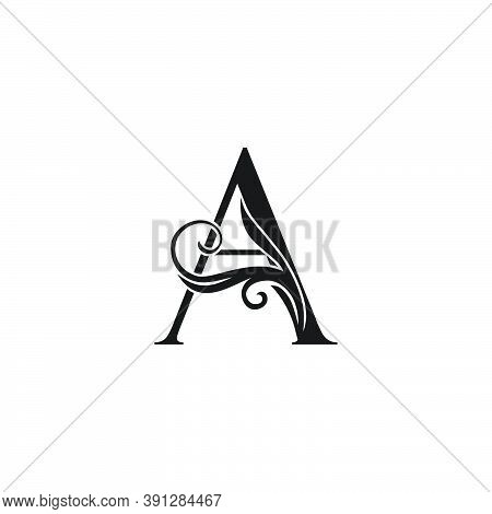 Monogram Luxury Initial Logo Letter A Vector Design Concept Luxury Floral Leaf For Luxuries Business