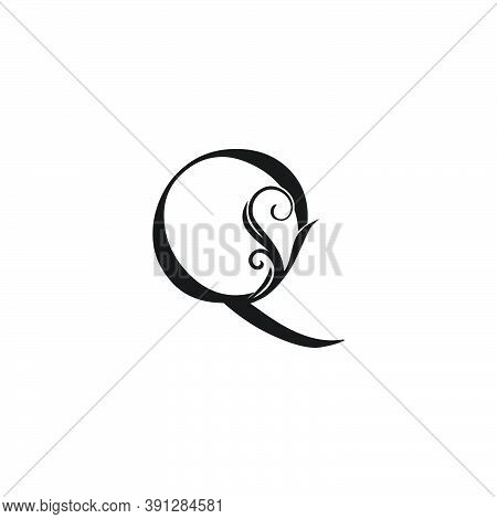 Monogram Luxury Initial Logo Letter Q Vector Design Concept Luxury Floral Leaf For Luxuries Business