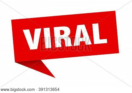 Viral Speech Bubble. Viral Ribbon Sign. Viral Banner