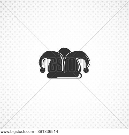 Joker Cap Isolated Solid Vector Icon On White Background