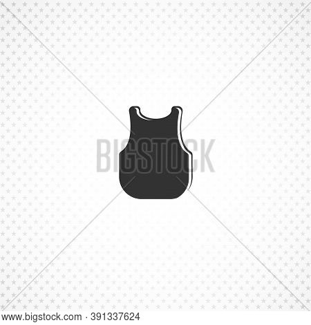 Singlet Isolated Solid Vector Icon On White Background
