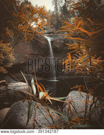 Haew Suwat Waterfall In The Summer Season, Haew Suwat Waterfall (khao Yai National Park)