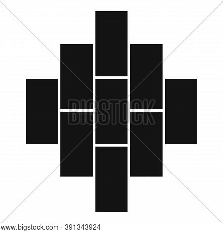 Plan Paving Icon. Simple Illustration Of Plan Paving Vector Icon For Web Design Isolated On White Ba