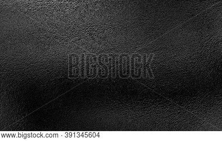 Abstract Black Foil Texture, Metallic Decorative Background