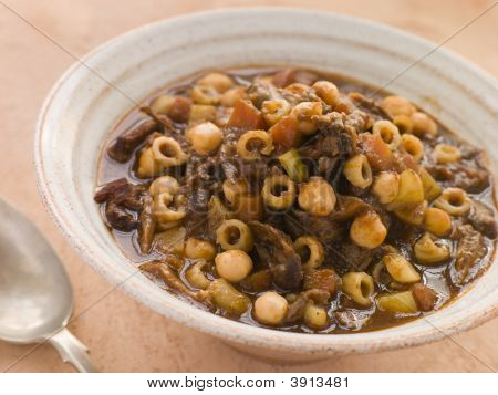 Oxtail And Chickpea Winter Soup