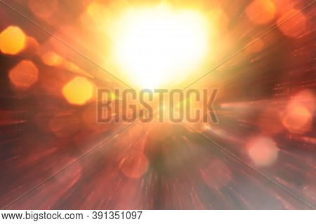 Abstract Use Of Light Color Blur Bokeh For Background, Abstract Background. Bokeh Light, Shimmering